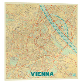 Acrylic print  Vienna Map Retro - Hubert Roguski