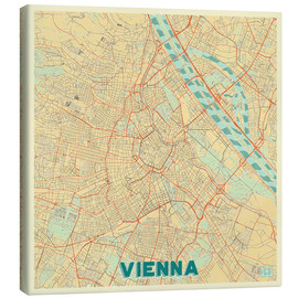 Canvas print  Vienna Map Retro - Hubert Roguski