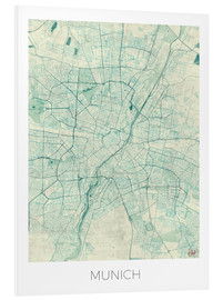 Forex  Munich Map Blue - Hubert Roguski