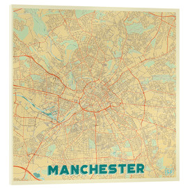 Acrylic print  Manchester Map Retro - Hubert Roguski