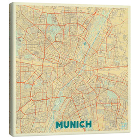 Canvas  Munich Map Retro - Hubert Roguski