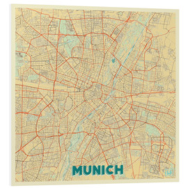 Forex  Munich Map Retro - Hubert Roguski