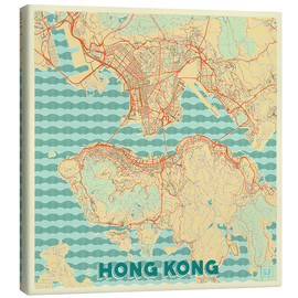 Canvas print  HongKong Map Retro - Hubert Roguski