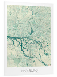 Forex  Hamburg, Germany Map Blue - Hubert Roguski