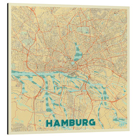 Hubert Roguski - Hamburg, Germany Map Retro