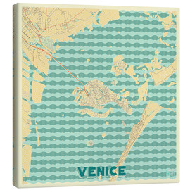 Canvas print  Venice, Italy Map Retro - Hubert Roguski