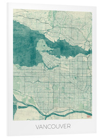 Forex  Vancouver, Canada Map Blue - Hubert Roguski