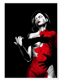 Premium poster  Nightfall in red I - Paola Morpheus