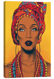 Canvas print  African tribal woman - Paola Morpheus