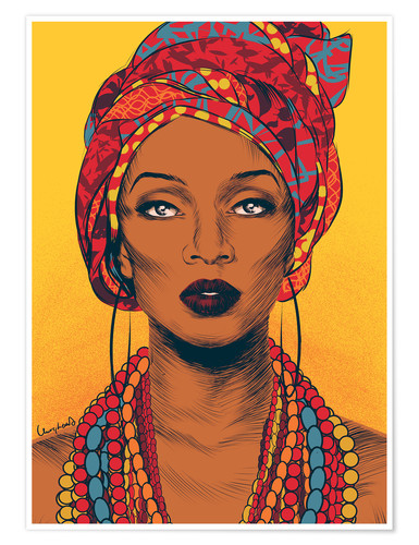 Poster African tribal woman