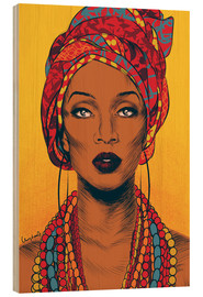 Wood  African tribal woman - Paola Morpheus