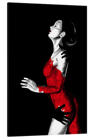 Aluminium print  Nightfall in red III - Paola Morpheus