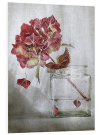 Foam board print  Still life with Hydrangea - Mandy Disher