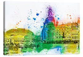 Canvas print  The Frauenkirche in Dresden - Peter Roder