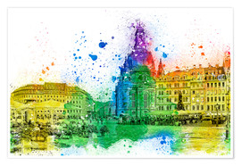 Premium poster  The Frauenkirche in Dresden - Peter Roder