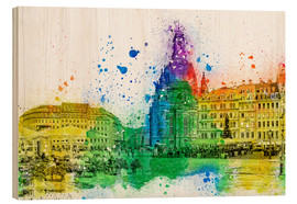 Wood print  The Frauenkirche in Dresden - Peter Roder