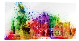 Acrylic print  The Semper Opera House in Dresden - Peter Roder