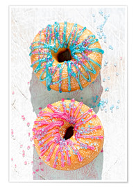 Poster  Doughnuts icing - K&L Food Style