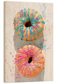 Wood print  Doughnuts icing - K&L Food Style