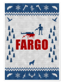 Premium poster Fargo - minimum alternative film TV - knitted look