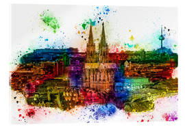 Acrylic glass  Cologne Skyline Cologne Cathedral - Peter Roder