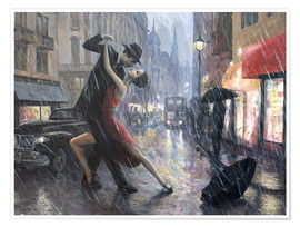 Premium poster Life is a Dance in The Rain II