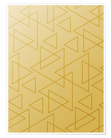 Premium poster Golden Triangle geometry