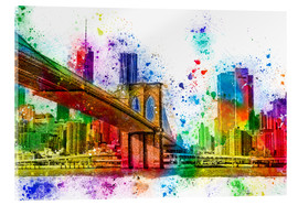 Acrylic print  New York with Brooklyn Bridge - Peter Roder