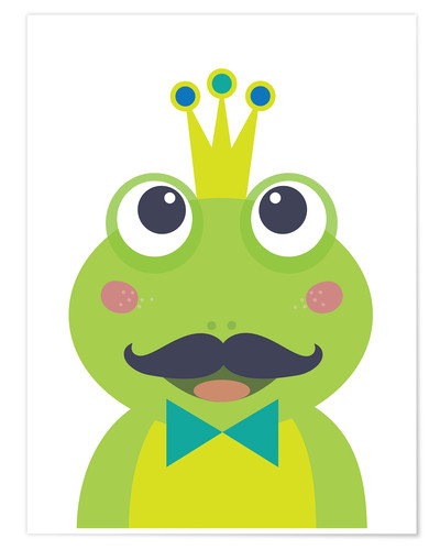 Premium poster Frog with mustache