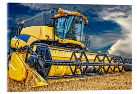 Acrylic print  Harvester in the cornfield - Peter Roder