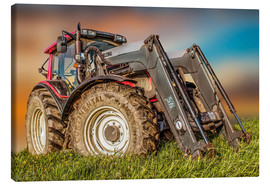 Canvas print  Tractor with front loader - Peter Roder