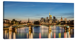 Canvas  Frankfurt Skyline - Michael Valjak