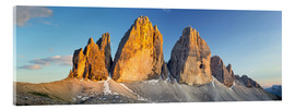 Acrylic glass  The three pinnacles in the Dolomites - Rainer Mirau