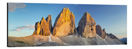Aluminium print  The three pinnacles, Dolomites - Rainer Mirau