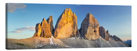 Canvas print  The three pinnacles, Dolomites - Rainer Mirau