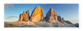 Poster  The three pinnacles in the Dolomites - Rainer Mirau