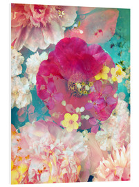 Foam board print  Colorful flowers in the water - Alaya Gadeh