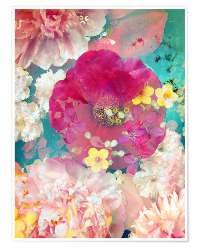 Premium poster Colorful flowers in the water