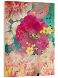 Wood print  Colorful flowers in the water - Alaya Gadeh