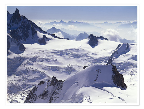 Premium poster Aiguille du Midi, outpost of the Mont Blanc massif