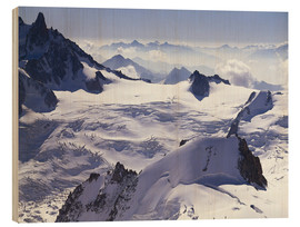 Wood  Aiguille du Midi, outpost of the Mont Blanc massif - Thonig