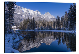 Aluminium print  Hintersee in front of Reiter Alm in winter - Udo Siebig