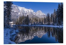 Foam board print  Hintersee in front of Reiter Alm in winter - Udo Siebig