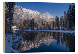 Wood  Hintersee in front of Reiter Alm in winter - Udo Siebig