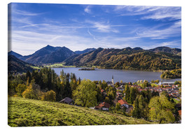 Canvas print  Bavarian Pre-Alps, municipality of Schliersee - Udo Siebig