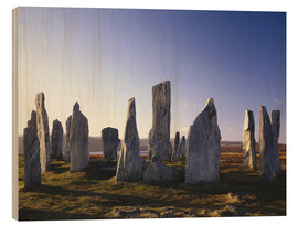 Wood print  Rock of Callanish - Thonig