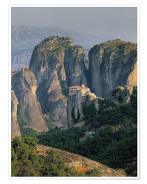 Premium poster Roussanou Monastery in Thessaly, Greece