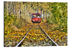 Alu-Dibond  Train drives away from the photographer - Harald Schön