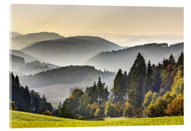 Acrylic print  View from the Thuringian Schiefergebirge - Harald Schön