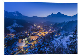 Forex  View of the town in the evening on Jenner and Watzmann - Udo Siebig